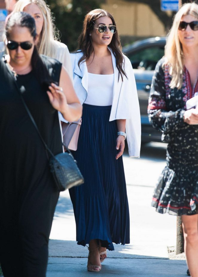 Lea Michele in Long Skirt out in Los Angeles