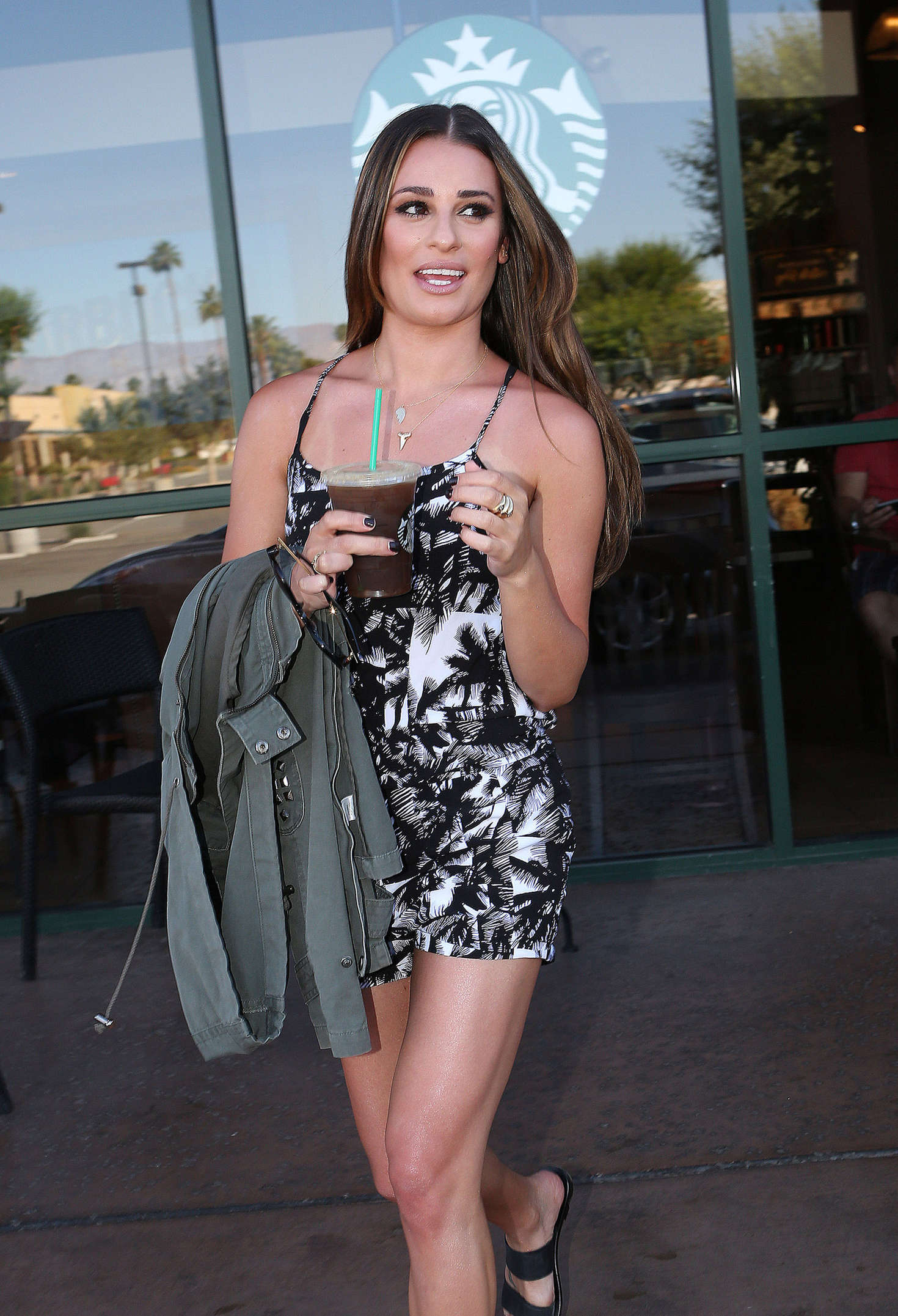 image Lea michele in short dress with epic cleavage