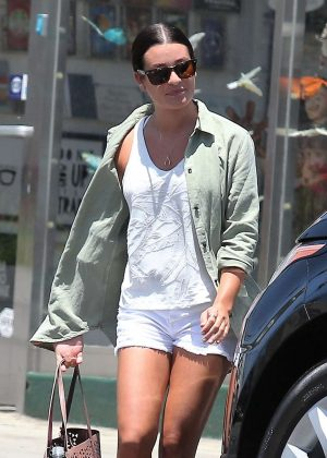 Lea Michele in Shorts out in Los Angeles