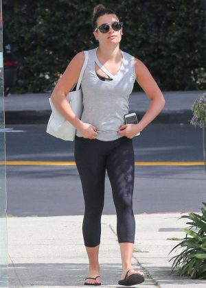 Lea Michele in Spandex out in Brentwood