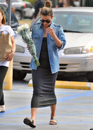 Lea Michele in Tight Dress out in Los Angeles