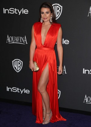 Lea Michele - InStyle And Warner Bros Golden Globes Party 2015 in Beverly Hills