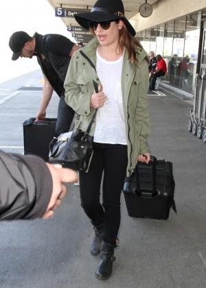Lea Michele - LAX airport in LA