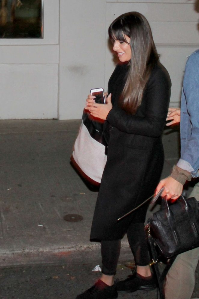 Lea Michele Leaves a restaurant in Seattle