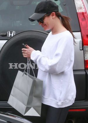 Lea Michele - Leaves the Brentwood Spa and Salon in Brentwood