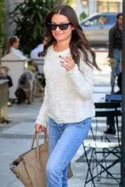 Lea Michele - Leaving Nine Zero One Salon in West Hollywood