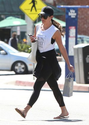 Lea Michele Leaving the Montana Ave Shopping Mall in LA