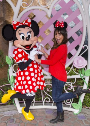Lea Michele - Mickey's Toontown at Disneyland in Anaheim