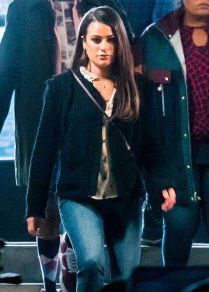 Lea Michele on 'City Mayor' set in Los Angeles