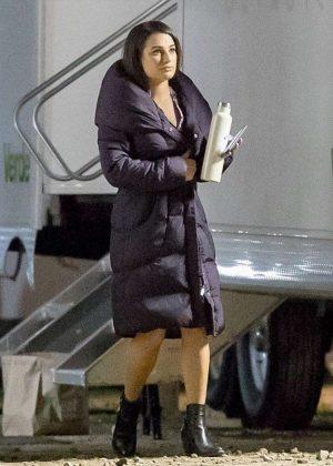 Lea Michele on set of 'Untitled City Mayor Project' in LA