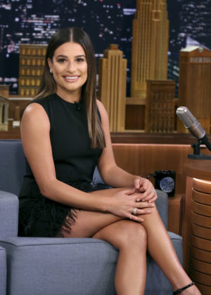 Lea Michele on 'The Tonight Show Starring Jimmy Fallon' in New York