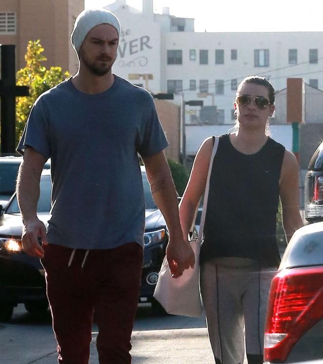 Lea Michele and Matthew Paetz Out in LA -02