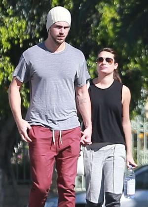 Lea Michele and Matthew Paetz Out in LA