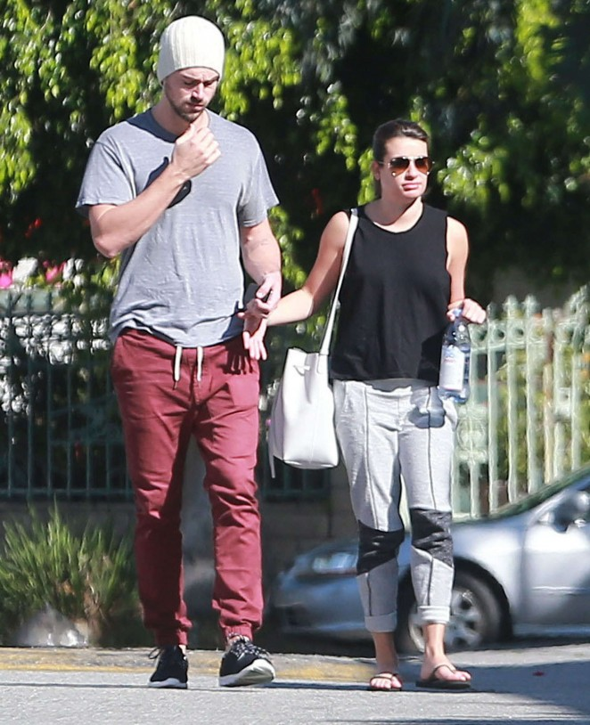 Lea Michele and Matthew Paetz Out in LA -26
