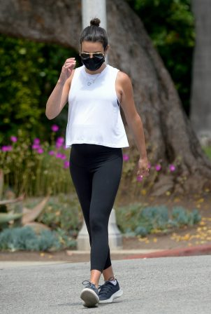 Lea Michele - Out for a walk in Los Angeles