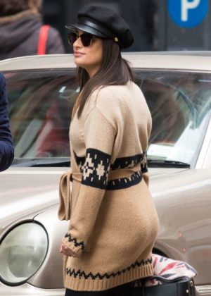 Lea Michele out in NYC