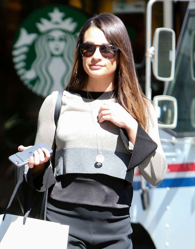 Lea Michele out shopping at Switch in Bel-Air