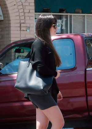 Lea Michele out to lunch in Los Angeles