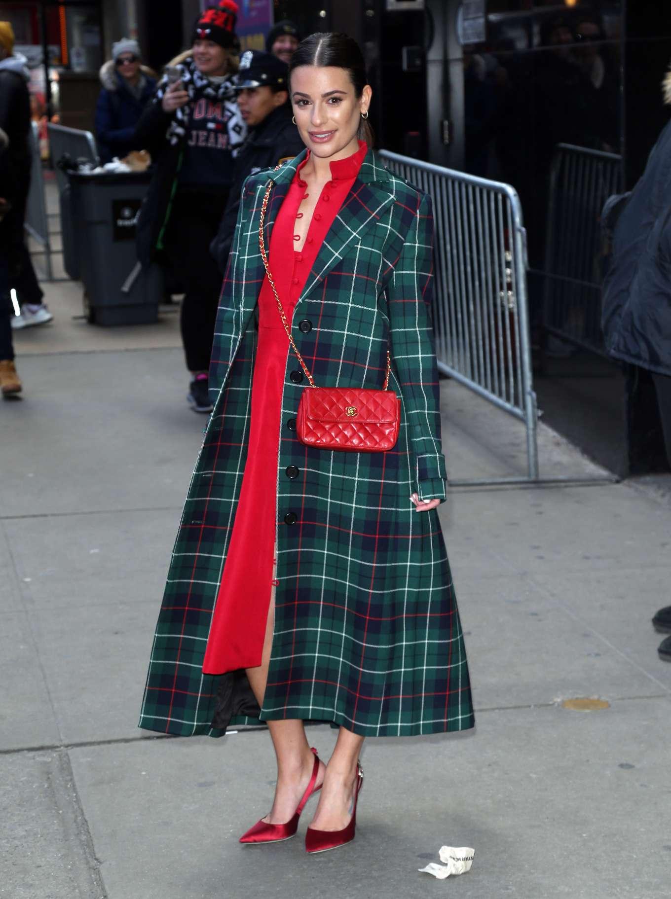 Lea Michele - Outside 'Good Morning America' in New York