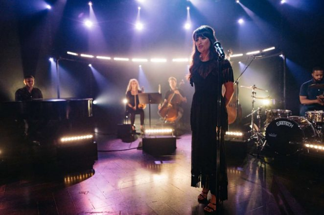 Lea Michele Performes at 'The Late Late Show With James Corden' in LA