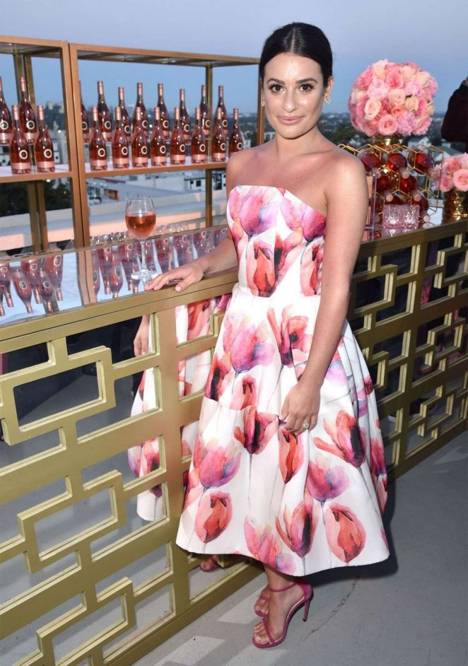 Lea Michele - Seen at Kim Crawford Wines Sip Into Summer Rose Party
