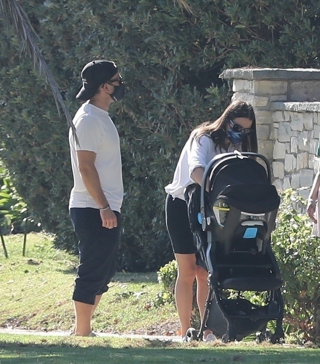 Lea Michele - Seen out with her husband in Santa Monica