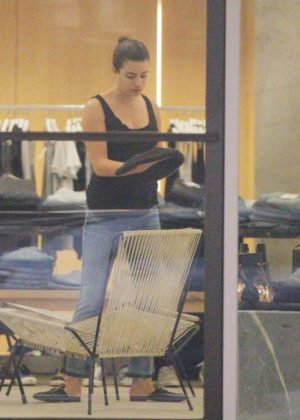Lea Michele - Shopping in Beverly Hills