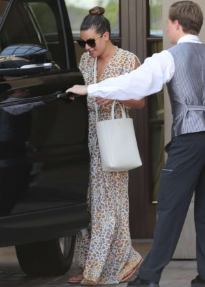 Lea Michele visit at Montage Hotel in Beverly Hills