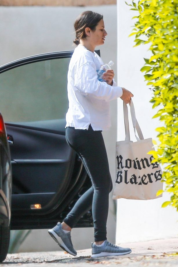 Lea Michele - Visiting a friend in Los Angeles