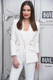 Lea Michele - Visits Build Studio in New York City