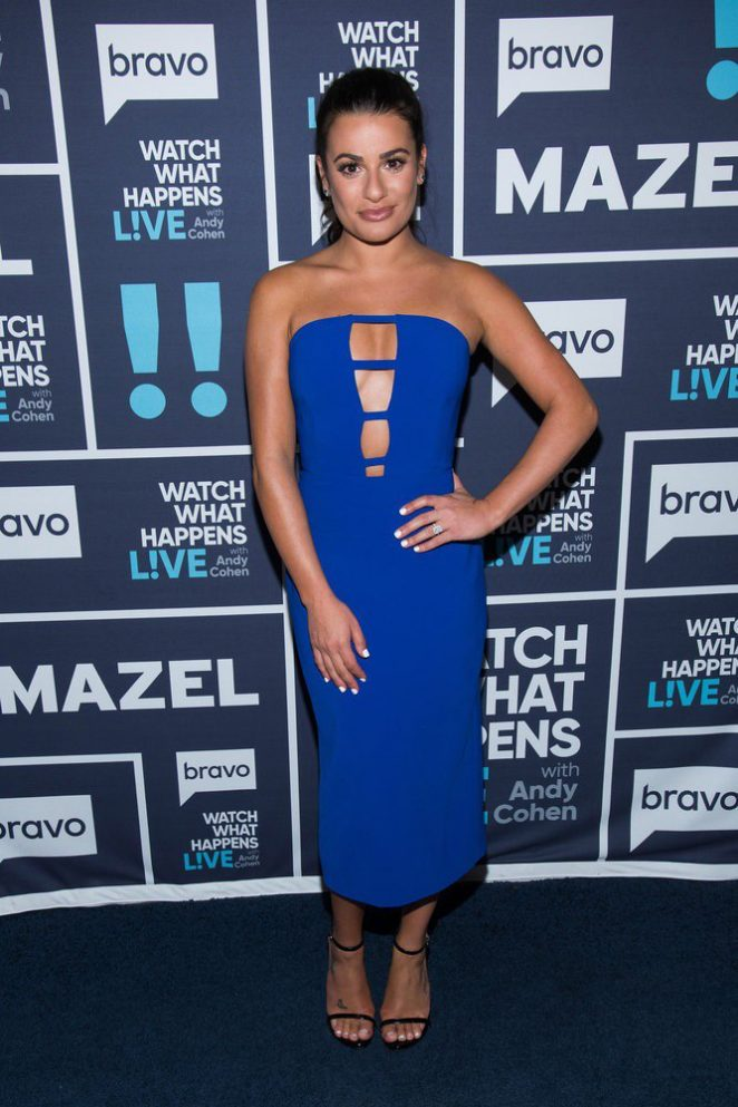Lea Michele - Watch What Happens Live TV show in New York