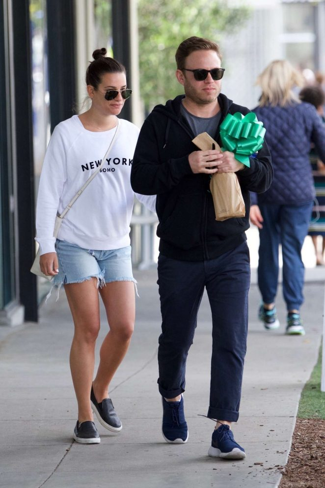 Lea Michele with her boyfriend in Los Angeles
