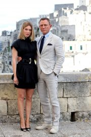 Lea Seydoux and Daniel Craig on location in Italy for the up-coming James Bond action thriller 'No Time To Die'