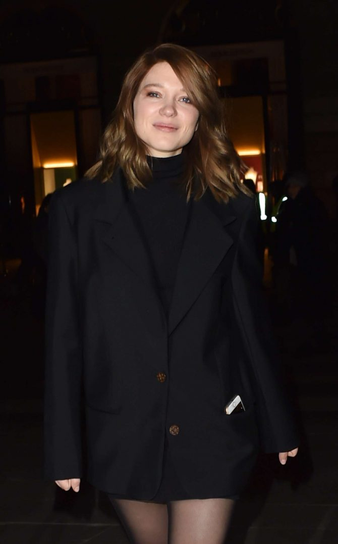Lea Seydoux – Arrives at Boucheron Cocktail Party in Paris