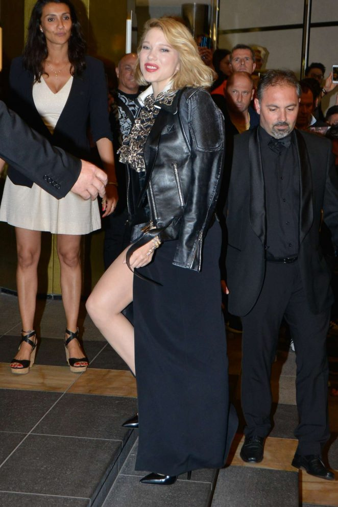 Lea Seydoux - Arriving for the Dior Dinner in Cannes