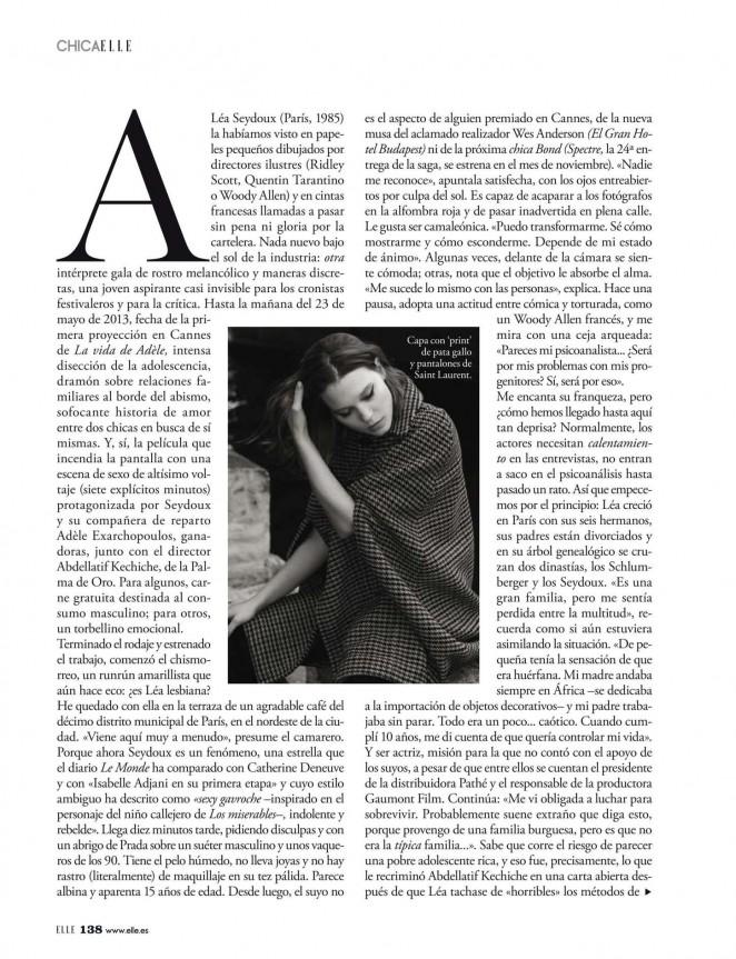 Lea Seydoux 2015 : Lea Seydoux: ELLE Spain 2015 -03