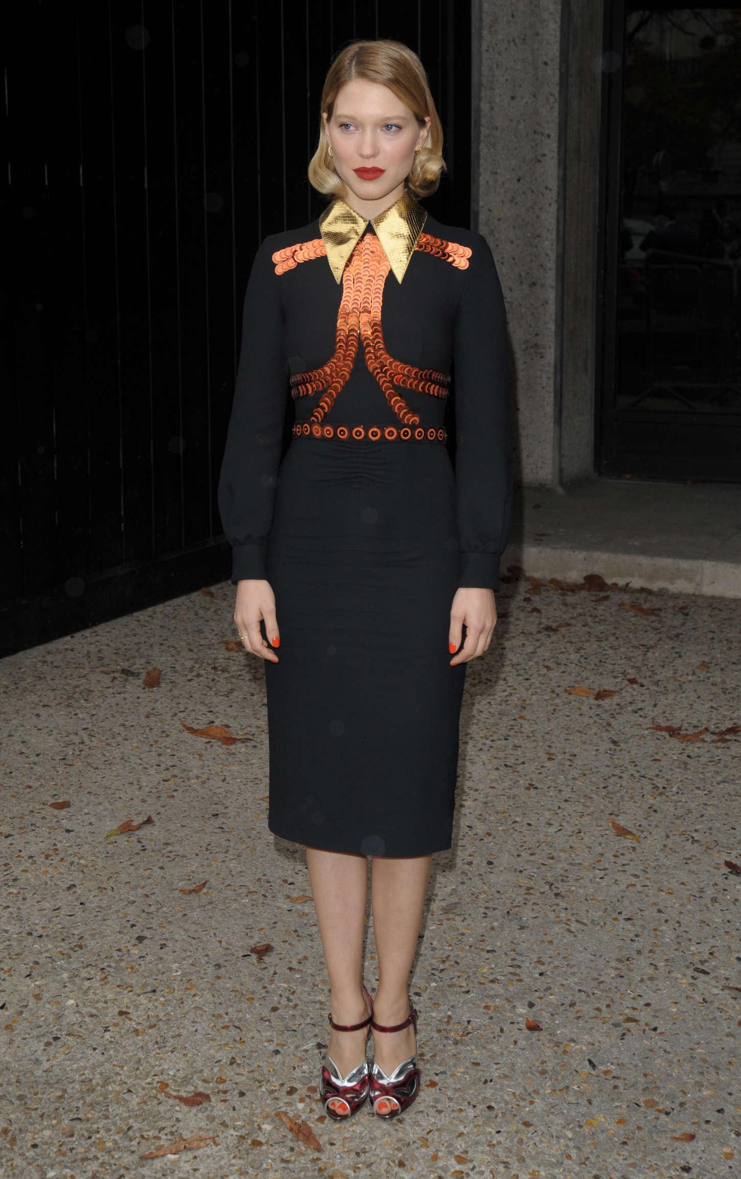 Lea Seydoux: Leaving Miu Miu Fashion Show -04