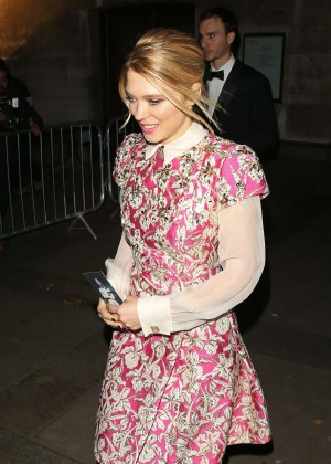 Lea Seydoux - Leaving 'Spectre' After Party in London