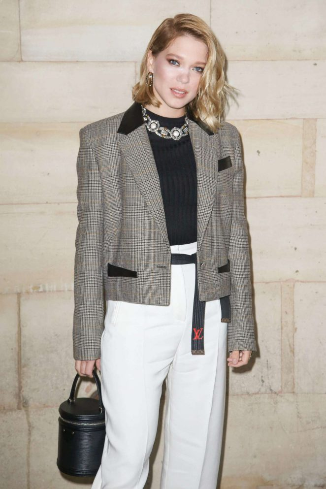 Lea Seydoux – Louis Vuitton Fashion Show in Paris