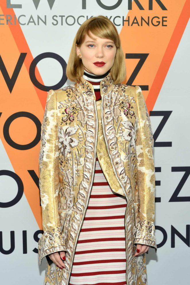 Lea Seydoux - Louis Vuitton 'Volez, Voguez, Voyagez' Exhibition Opening in NY
