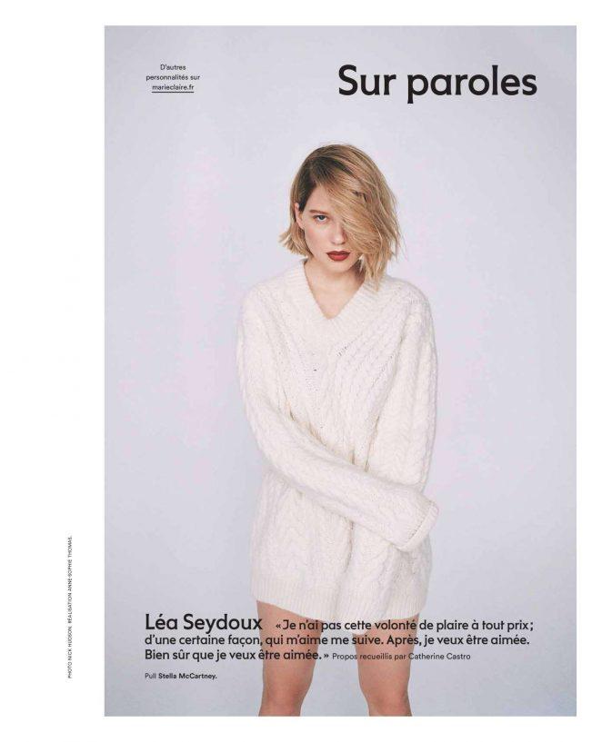 Lea Seydoux – Marie Claire Magazine (December 2018)