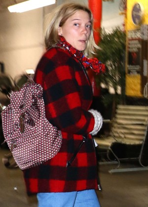 Lea Seydoux out in New York