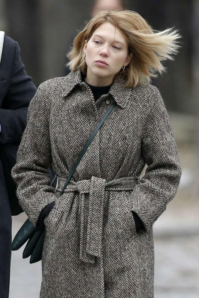 Lea Seydoux Out In Paris Gotceleb