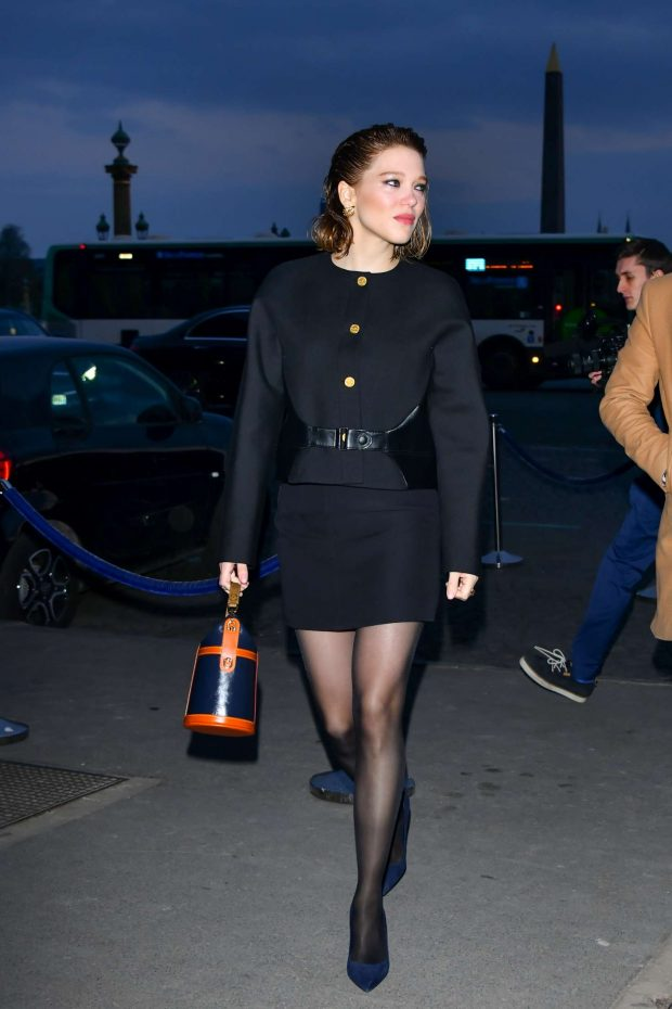 Lea Seydoux - Outside the 'Diner du Cinema - Madame Figaro' in Paris