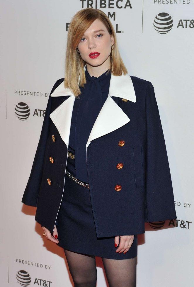 Lea Seydoux –  'Zoe' Premiere at 2018 Tribeca Film Festival in New York