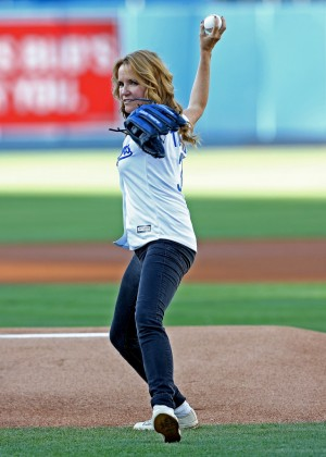 Lea Thompson - Cincinnati Reds v Los Angeles Dodgers in LA