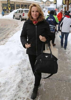 Lea Thompson out at 2017 Sundance Film Festival in Utah