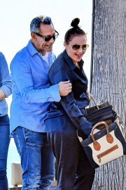 Leah Remini and husband Angelo Pagan at Maestros in Malibu