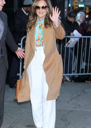 Leah Remini - Arrives at Good Morning America in New York