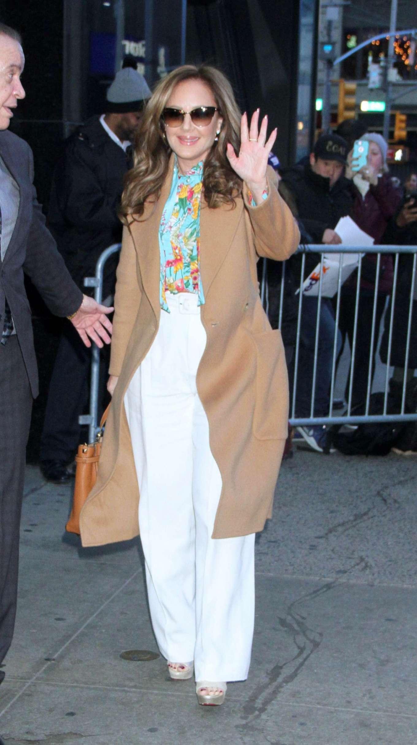 Leah Remini - Arrives at Good Morning America in New York